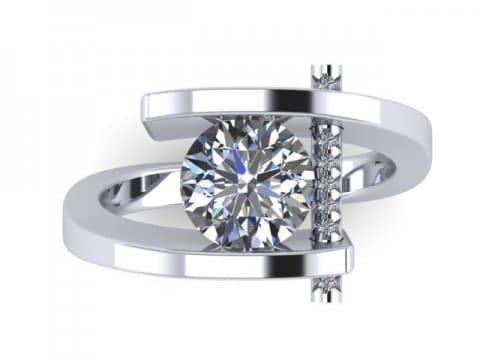 Custom Round Engagement Rings Dallas 2 1, Shira Diamonds