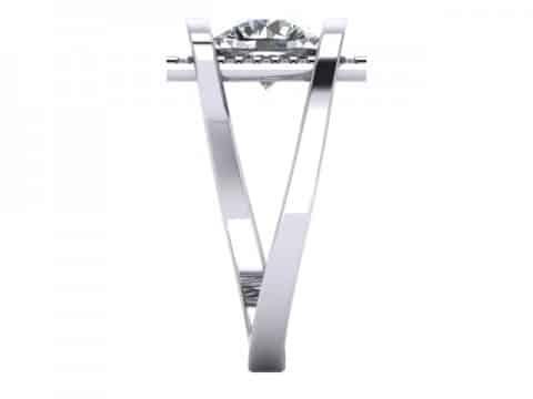 Custom Round Engagement Rings Dallas 3