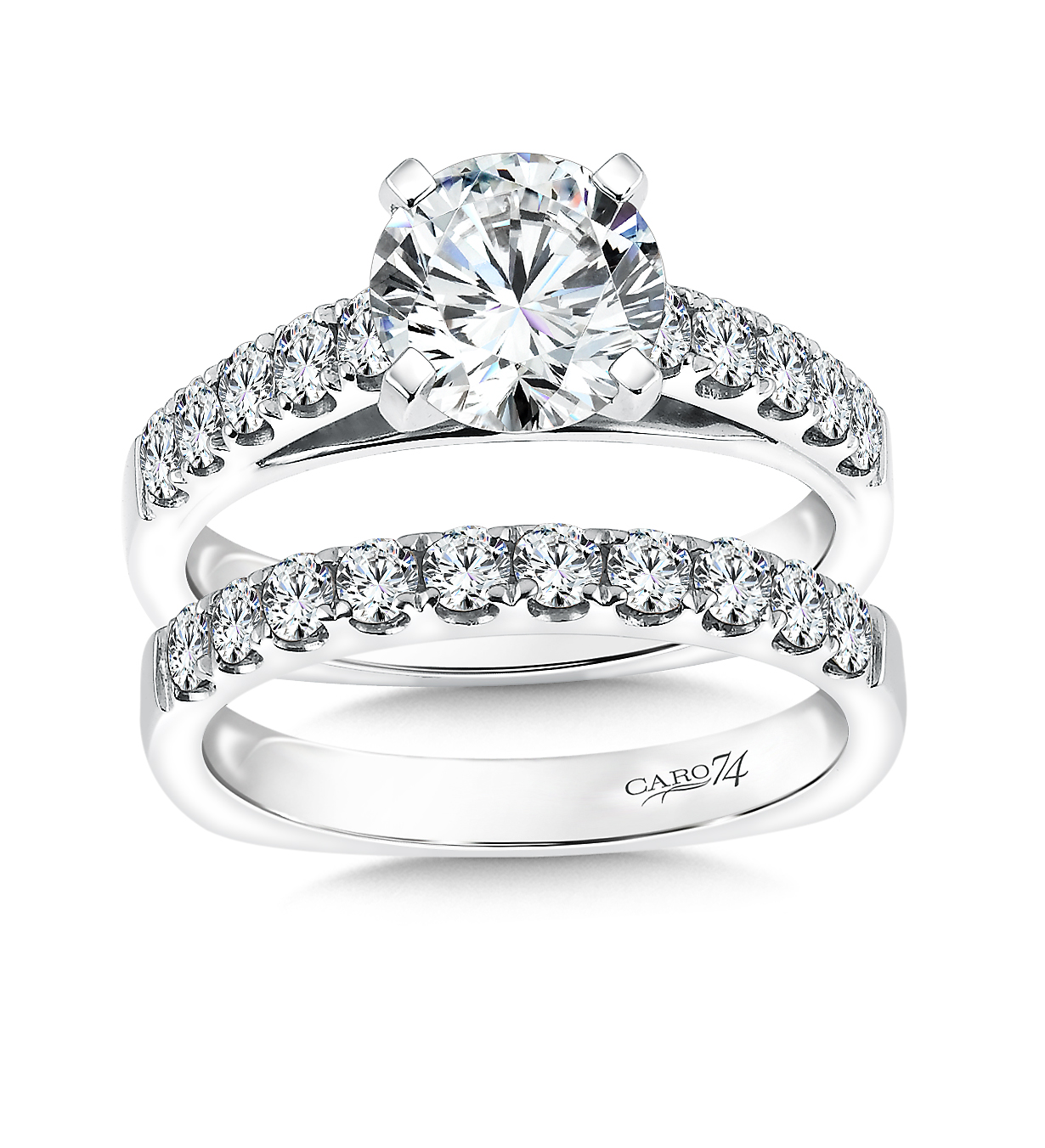 Custom Round Engagement Rings