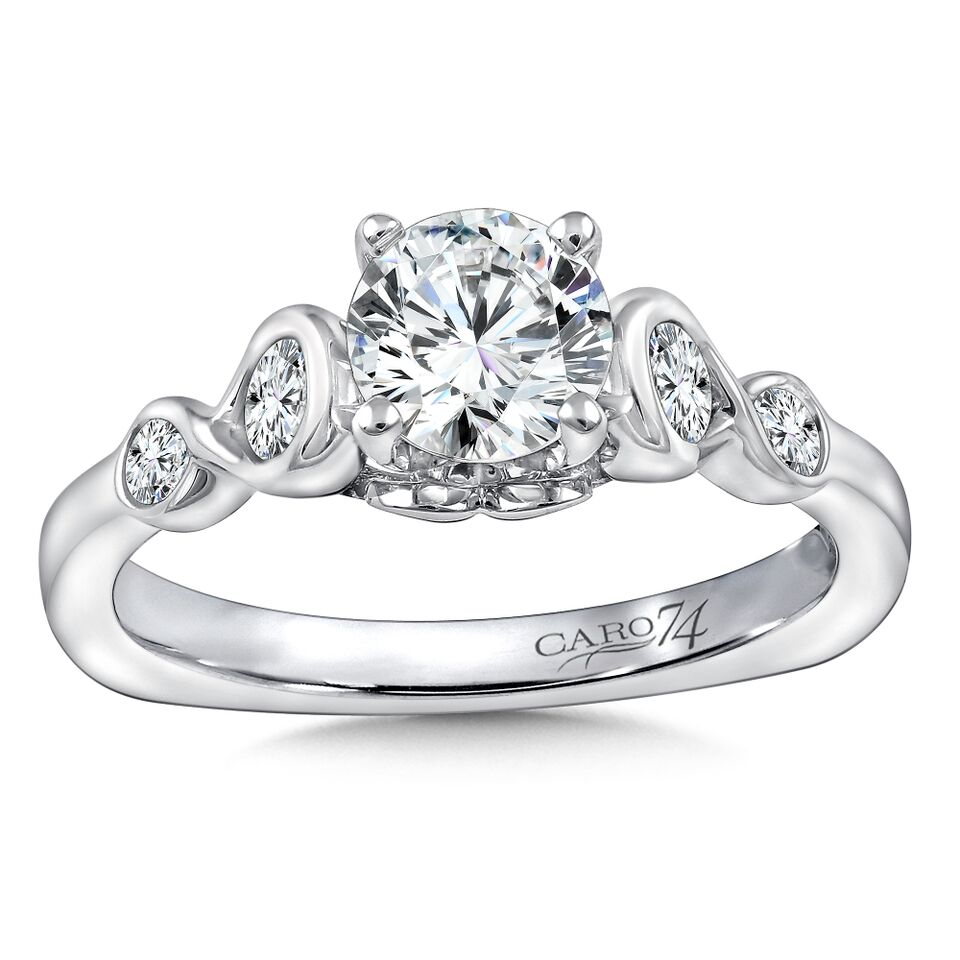 Custom Semi Mount Diamond Rings Dallas 3, Shira Diamonds