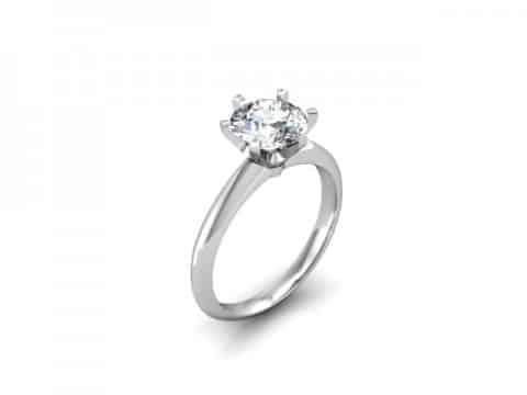 Custom Solitaire Engagement Ring White Gold Round Addison Texas 1, Shira Diamonds