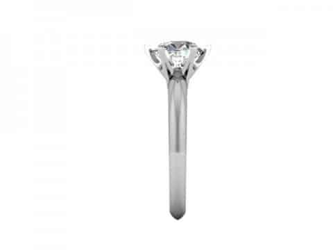 Custom Solitaire Engagement Ring White Gold Round Addison Texas 2, Shira Diamonds