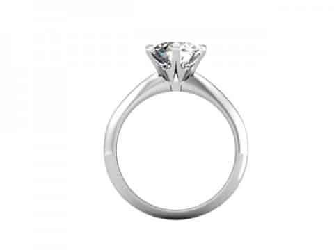 Custom Solitaire Engagement Ring White Gold Round Addison Texas 3, Shira Diamonds