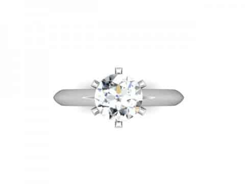 Custom Solitaire Engagement Ring White Gold Round Addison Texas 4, Shira Diamonds
