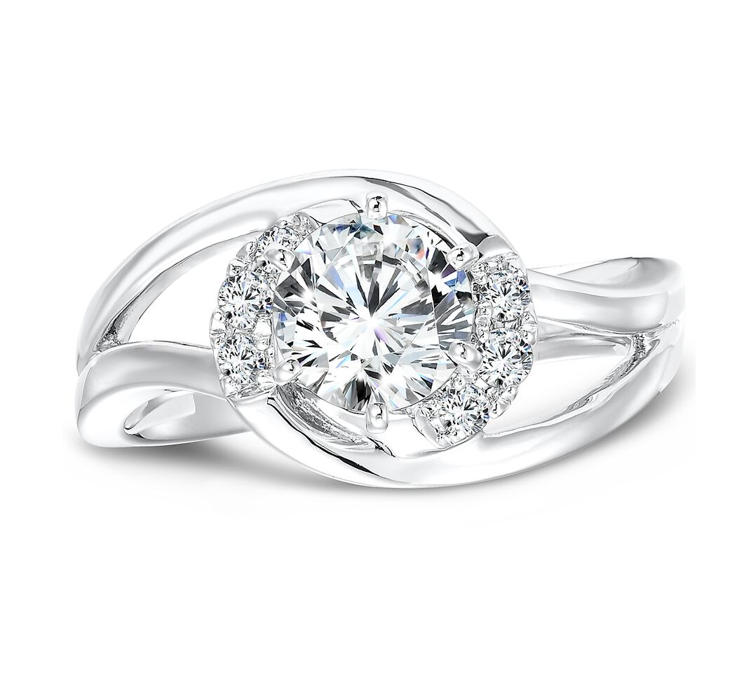 Custom Twist Diamond Ring Custom Diamond Ring Round Diamond Ring Split Shank 4 , Shira Diamonds
