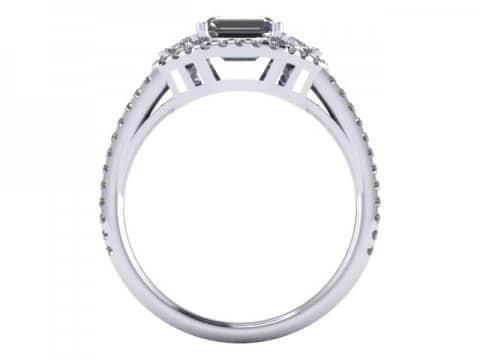 Custom Emerald Diamond Ring Dallas 3 1, Shira Diamonds