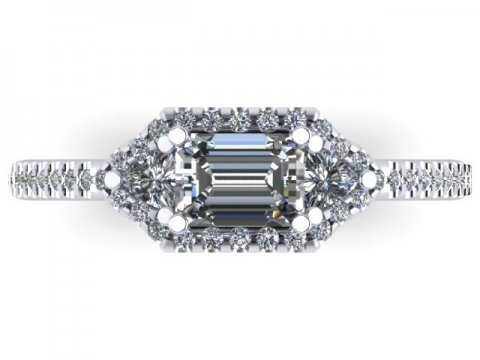 Custom Emerald Diamond Ring Dallas 4 1, Shira Diamonds