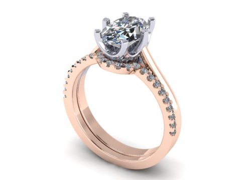 Custom oval engagement ring in Dallas - Rose Gold Oval Rings Dallas 1