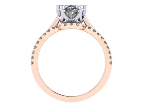 Custom Oval Engagement Ring In Dallas Rose Gold Oval Rings Dallas 2, Shira Diamonds