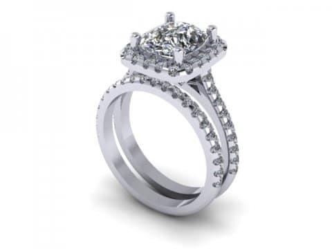 Custom radiant diamond rings dallas 1