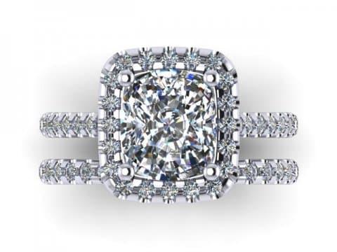 Custom Radiant Diamond Rings Dallas 2 1, Shira Diamonds