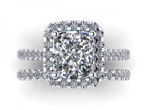 Custom radiant diamond rings dallas 2