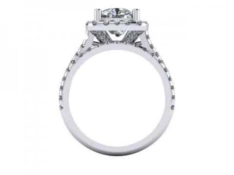 Custom radiant diamond rings dallas 4
