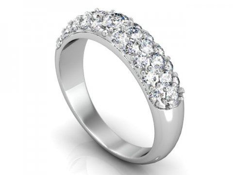 Custom wedding band in Dallas texas - Pave Wedding Bands in Dallas Texas - Shira diamonds Texas 1