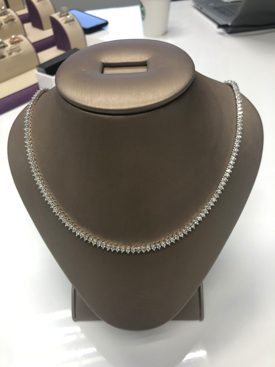 Custom Diamond Necklace 1, Shira Diamonds
