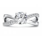 Custom Diamond Ring Round Diamond Ring 1, Shira Diamonds