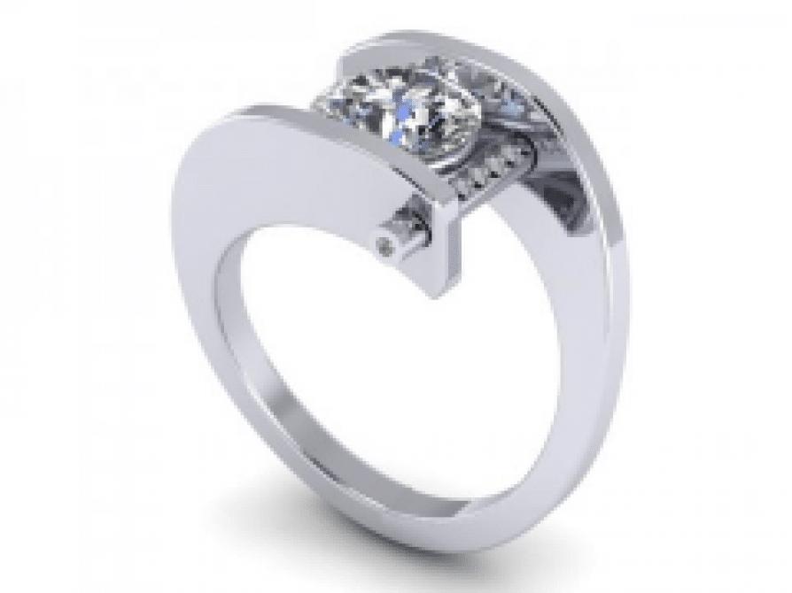 Custom Round Engagement Rings Dallas 1, Shira Diamonds