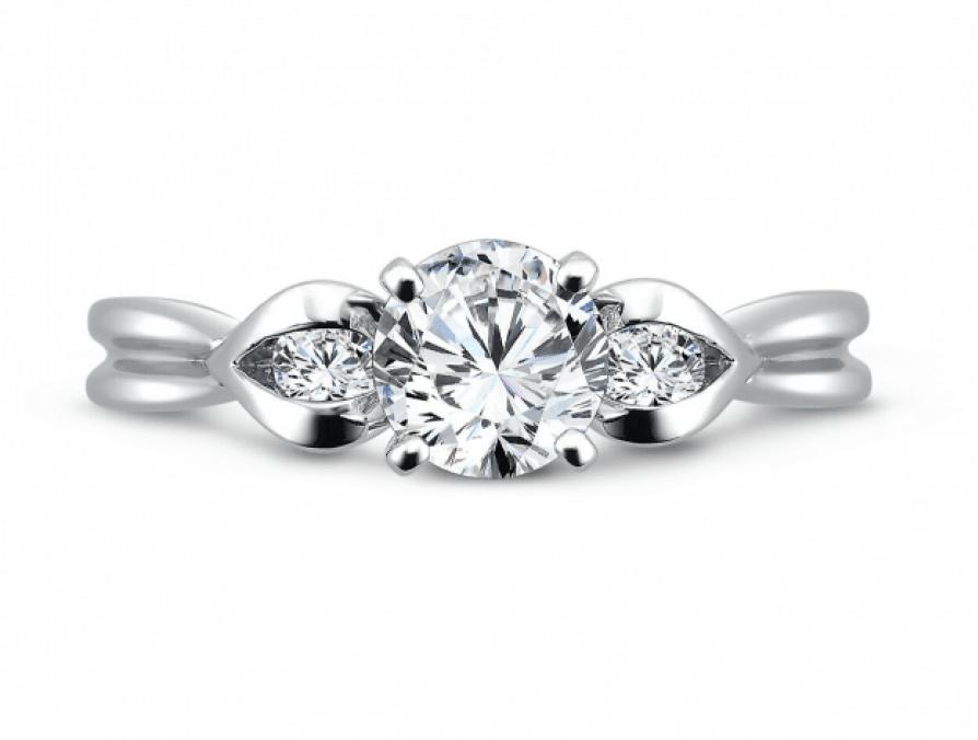 Custom Three Stone Diamond Rings Dallas 3, Shira Diamonds