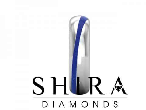 Custom Mens Wedding Band With Blue Sapphire Shira Diamonds