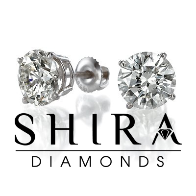 Diamond Studs Shira Diamonds Round Diamond Studs 2 1, Shira Diamonds