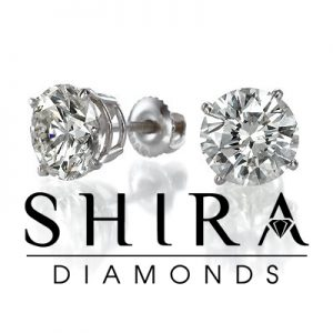 Diamond Studs - Shira Diamonds - Round Diamond Studs