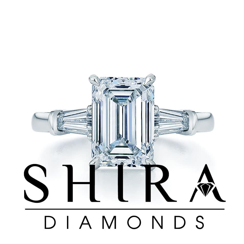 Emerald cut diamonds in Dallas - Emerald Diamonds - Shira Diamonds