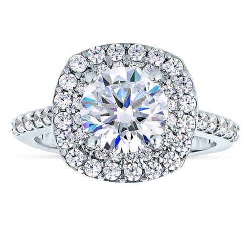 Halo Diamond Engagement Rings in Dallas Texas - Shira Diamonds Dallas