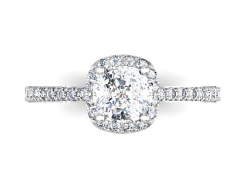 Halo Diamond Rings Dallas - Cushion Halo Diamond Rings Dallas 1