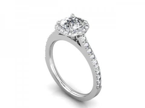 Halo Diamond Rings Dallas - Cushion Halo Diamond Rings Dallas 2