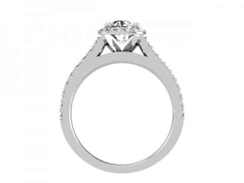 Halo Diamond Rings Dallas - Cushion Halo Diamond Rings Dallas 4