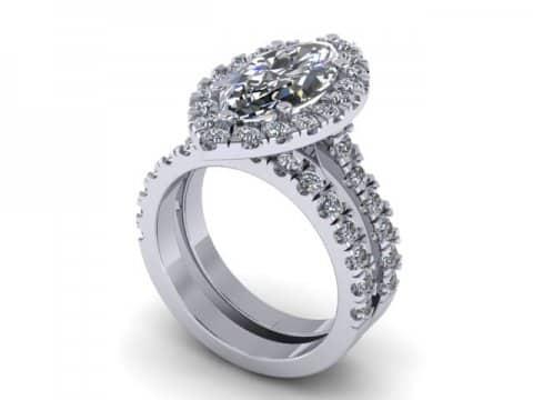Marquise Cut Diamond Halo Engagement Rings 1, Shira Diamonds