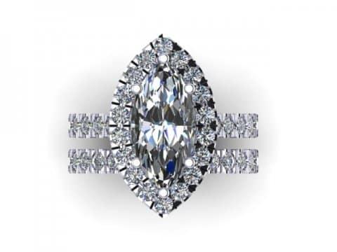 Marquise Cut Diamond Halo Engagement Rings 2, Shira Diamonds