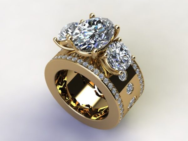 Oval Custom Diamond Rings Dallas