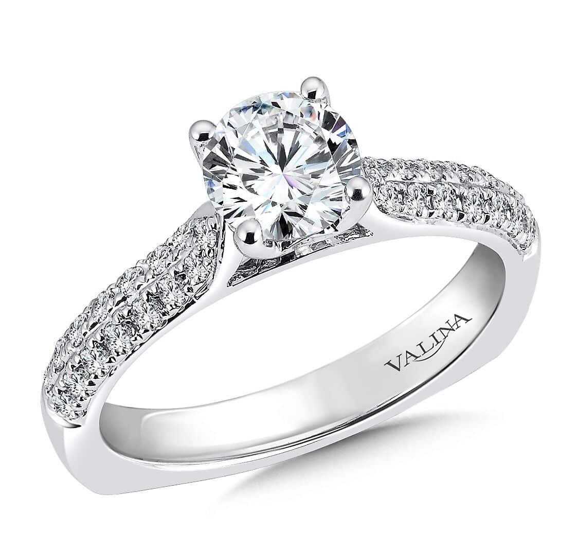 Pave Engagement Ring Dallas Wholesale Diamond Rings Dallas Custom Diamond Rings Dallas, Shira Diamonds