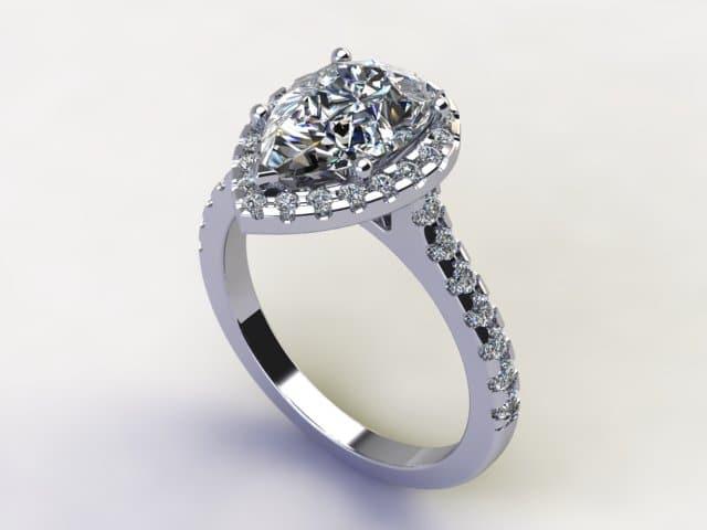 Pear Diamond Ring1