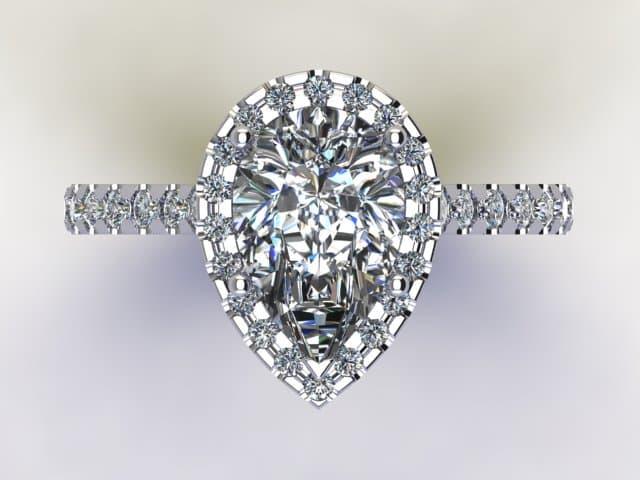 Pear Diamond Ring4