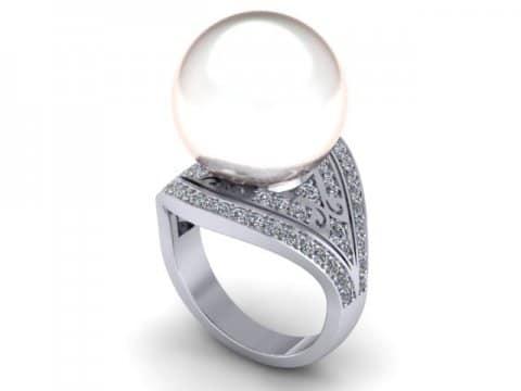 Pearl Custom Diamond Engagement Rings In Dallas Texas 1, Shira Diamonds