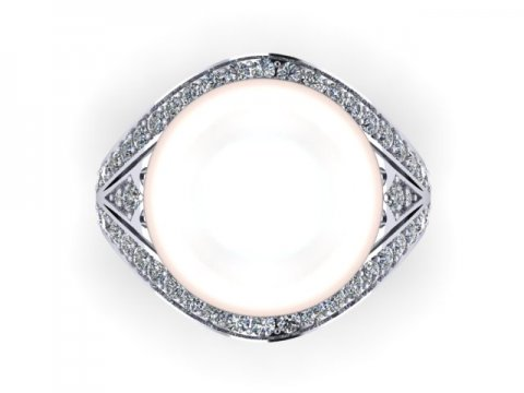 Pearl Custom Diamond Engagement Rings in Dallas Texas 2