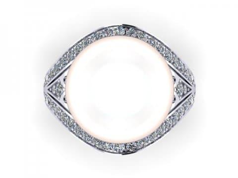 Pearl Custom Diamond Engagement Rings In Dallas Texas 2, Shira Diamonds