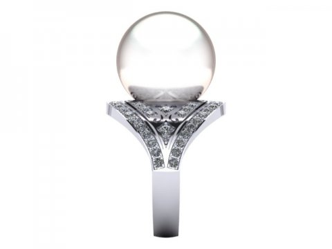 Pearl Custom Diamond Engagement Rings in Dallas Texas 3