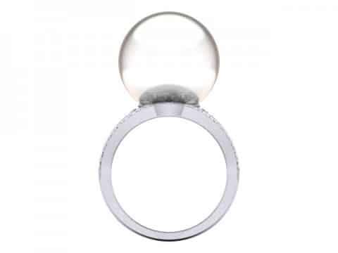 Pearl Custom Diamond Engagement Rings in Dallas Texas 4