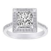 Princess Cut Diamonds - Shira Diamonds