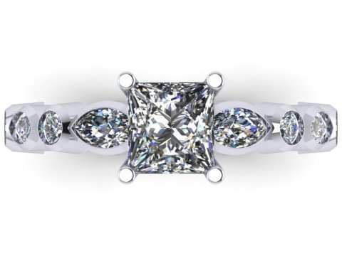 Princess Diamond Rings Dallas 2 1, Shira Diamonds