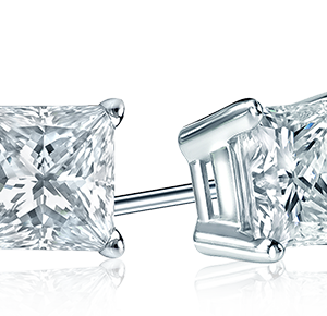 Princess Diamond Studs Dallas Texas - Shira Diamonds