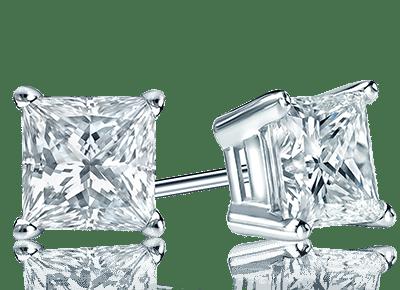 Princess Diamond Studs Dallas Texas - Shira Diamonds