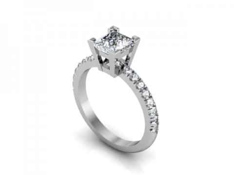 Princess fishtail diamond ring dallas 1