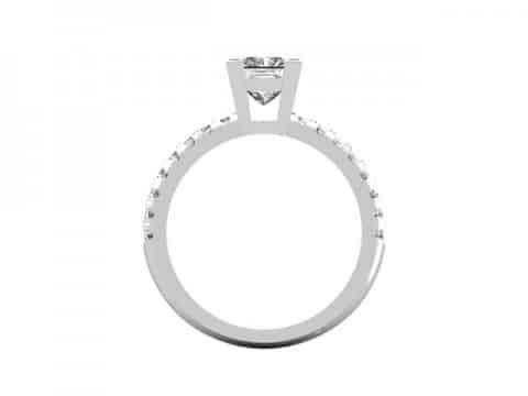 Princess fishtail diamond ring dallas 3
