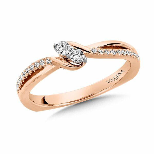 Rose Gold Diamond Ring in Dallas