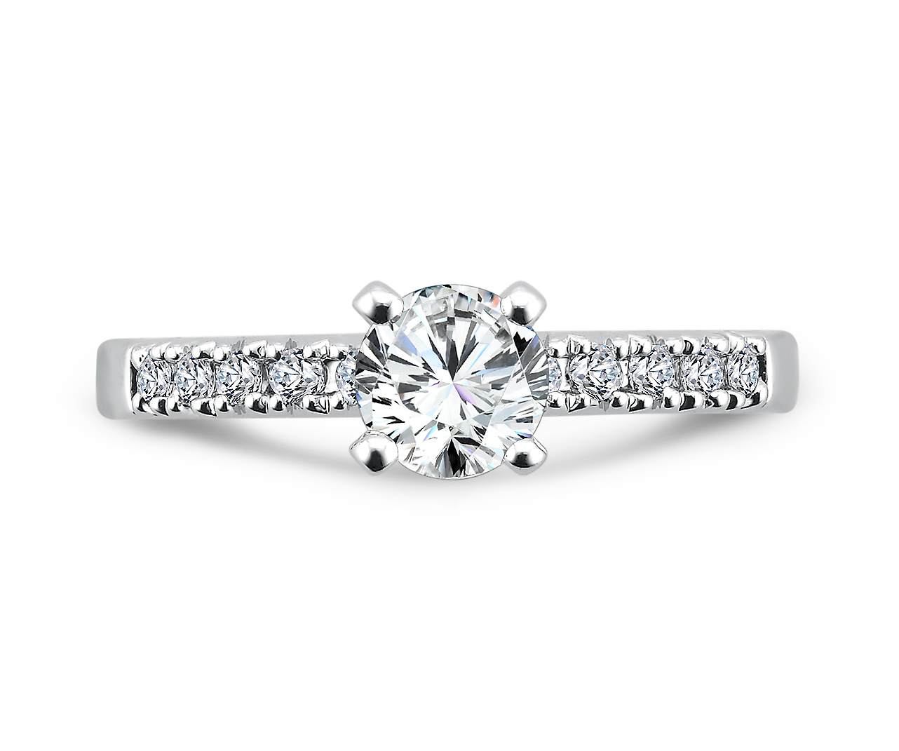 Round Diamond Rings Dallas - Semi Mount Diamond Ring 3