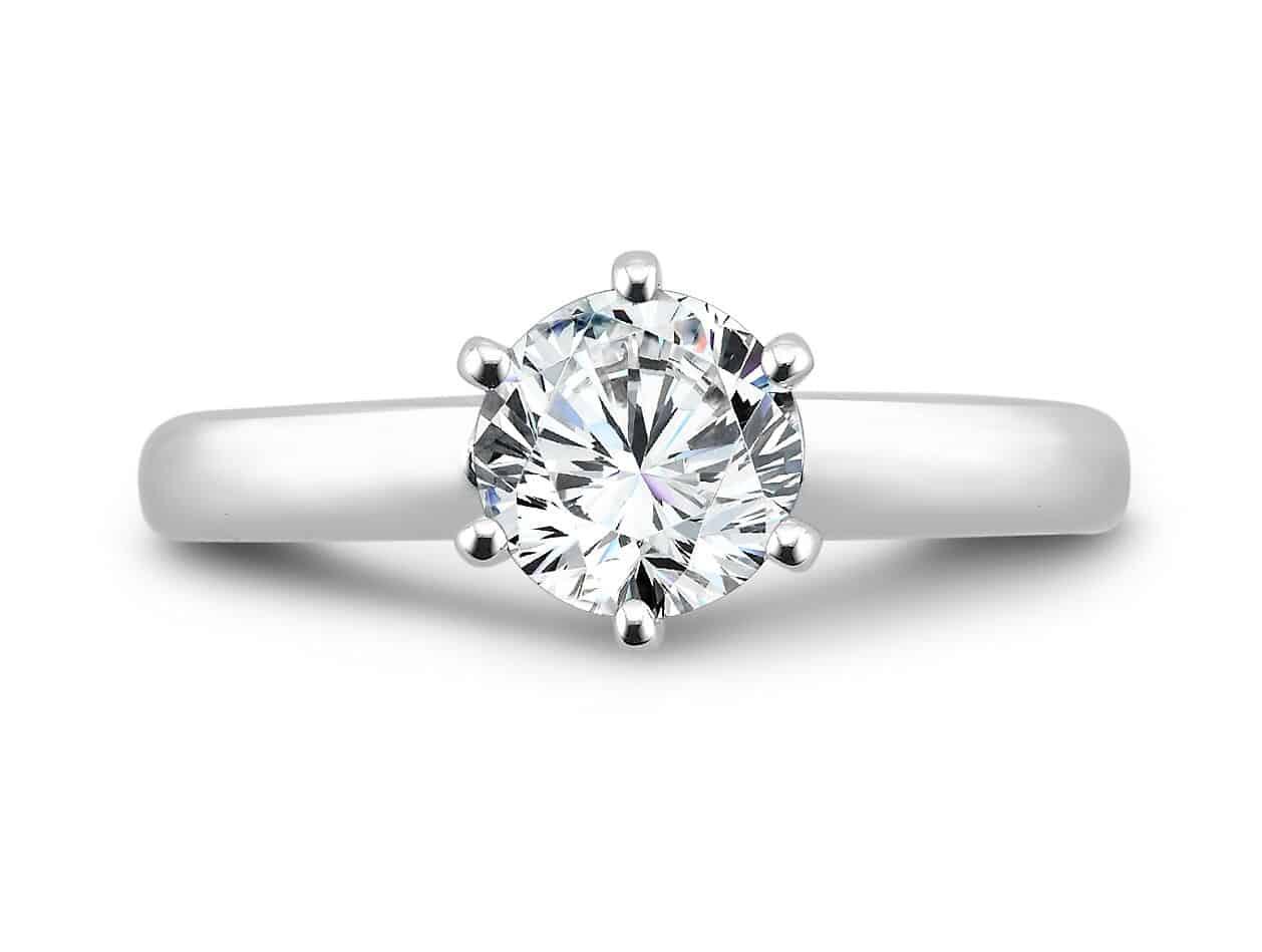 Round Solitaire Diamond Rings Dallas Texas 3